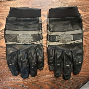 Leather Harley-Davidson Riding Gloves - Sz. L